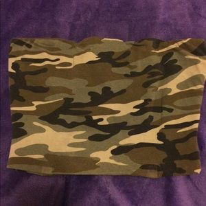 Tops - Army print tube top